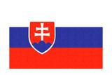 Slovakia Country Flag - Letterpress