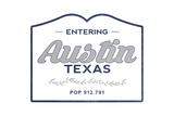 Austin  Texas - Now Entering (Blue)
