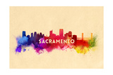 Sacramento  California - Skyline Abstract
