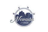 Reno  Nevada - Skyline Seal (Blue)