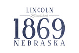 Lincoln  Nebraska - Established Date (Blue)