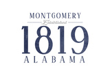Montgomery  Alabama - Established Date (Blue)