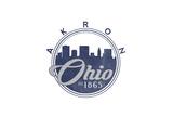 Akron  Ohio - Skyline Seal (Blue)