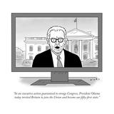 """In an executive action guaranteed to enrage Congress  President Obama tod…"" - Cartoon"