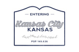 Kansas City  Kansas - Now Entering (Blue)