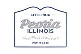 Peoria  Illinois - Now Entering (Blue)