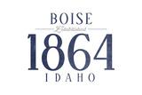 Boise  Idaho - Established Date (Blue)