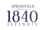 Springfield  Illinois - Established Date (Blue)