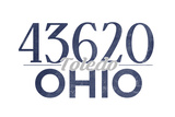 Toledo  Ohio - 43620 Zip Code (Blue)
