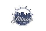 Peoria  Illinois - Skyline Seal (Blue)