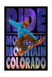 Monarch Mountain  Colorado - Milky Way Snowboarder