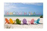 Rehoboth Beach  Delaware - Colorful Beach Chairs