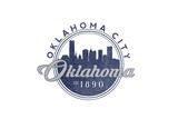 Oklahoma City  Oklahoma - Skyline Seal (Blue)