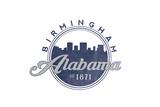 Birmingham  Alabama - Skyline Seal (Blue)