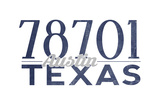 Austin  Texas - 78701 Zip Code (Blue)