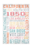California - Barnwood Typography