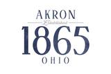 Akron  Ohio - Established Date (Blue)