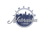 Lincoln  Nebraska - Skyline Seal (Blue)