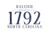 Raleigh  North Carolina - Established Date (Blue)