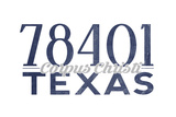 Corpus Christi  Texas - 78401 Zip Code (Blue)