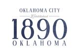 Oklahoma City  Oklahoma - Established Date (Blue)