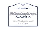 Birmingham  Alabama - Now Entering (Blue)