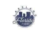 Lakeland  Florida - Skyline Seal (Blue)