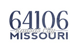 Kansas City  Missouri - 64106 Zip Code (Blue)