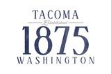 Tacoma  Washington - Established Date (Blue)
