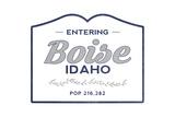 Boise  Idaho - Now Entering (Blue)