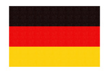 Germany Country Flag - Letterpress