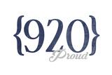 Green Bay  Wisconsin - 920 Area Code (Blue)