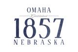 Omaha  Nebraska - Established Date (Blue)