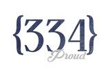 Birmingham  Alabama - 334 Area Code (Blue)