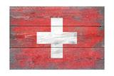 Switzerland Country Flag - Barnwood Painting