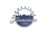 Knoxville  Tennessee - Skyline Seal (Blue)