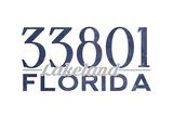 Lakeland  Florida - 33801 Zip Code (Blue)