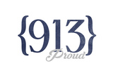 Kansas City  Missouri - 913 Area Code (Blue)
