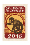 Year of the Monkey - 2016 - Woodblock