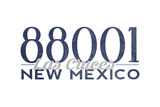 Las Cruces  New Mexico - 88001 Zip Code (Blue)