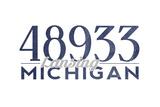 Lansing  Michigan - 48933 Zip Code (Blue)