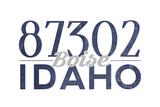 Boise  Idaho - 87302 Zip Code (Blue)