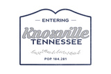 Knoxville  Tennessee - Now Entering (Blue)