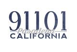 Pasadena  California - 91101 Zip Code (Blue)