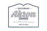 Akron  Ohio - Now Entering (Blue)