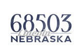 Lincoln  Nebraska - 68503 Zip Code (Blue)