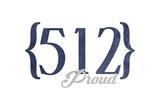 Austin  Texas - 512 Area Code (Blue)