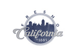 Fresno  California - Skyline Seal (Blue)