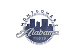 Montgomery  Alabama - Skyline Seal (Blue)