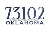 Oklahoma City  Oklahoma - 73102 Zip Code (Blue)
